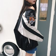 >> Click to Buy << 2017 Hot Sale New Spring Coat Korea Harajuku Tiger Head Embroidered Bomber Jacket Women Baseball Jackets Fashion Outwear Coats  #Affiliate