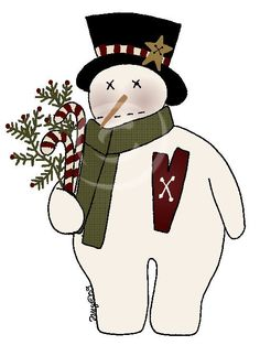 Primitive Patterns - Wool, Wood and Stitches - Snowmen - (Powered by CubeCart) Primitive Patterns, Primitive Folk Art, Primitive Crafts, Applique Patterns, Craft Patterns, Snowman Patterns, Applique Ideas, Snowmen Pictures, Christmas Pictures