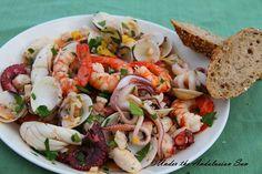 Salpicon de Marisco.. white fish, octopus, prawns, squid, and clams..