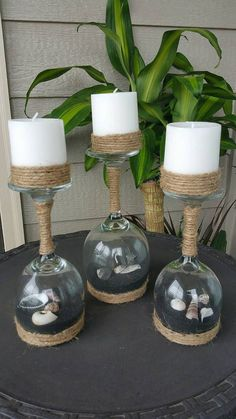 30 Cute Seashell And Sand Wine Glasses, For Your Home