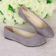 New Fashion trend simple sweet classic candy colors women new fashion casual high end flock flats boat. Click visit to read descriptions
