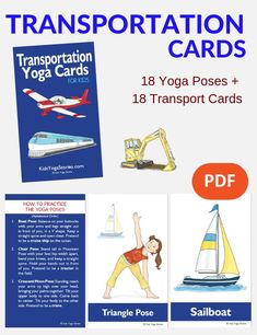 Transportation Activities for Kids Yoga (Printable Poster) - Kids Yoga Stories Literacy Activities, Physical Activities, Activities For Kids, Chico Yoga, Transportation Activities, Kinesthetic Learning, Easy Yoga Poses, Yoga Posen, Parents As Teachers