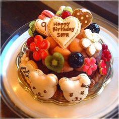 ガトーショコラでデコレーションケーキ♡