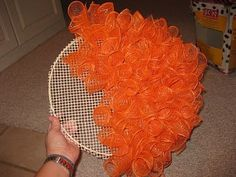 Mesh Pumpkin Wreath tutorial!