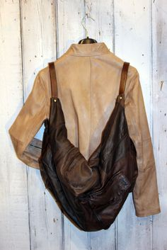Large Brown Handmade Italian Leather Tote by LaSellerieLimited