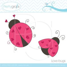 Happy Valentine's day to all my fans, here is a lovely lady bug FREEBIE just for you, hope you have fun creating cute crafts and projects.