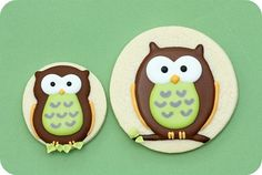 How To Decorate Owl Cookies with Royal Icing By sweetopia on CakeCentral.com