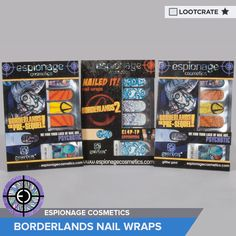 I'm entered to win #Borderlands Nail Wraps courtesy of Espionage Cosmetics & Loot Crate!