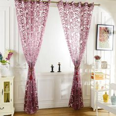 european cut flowers yarn dyed tulle curtains for bedroom jacquard sheer blind eyelets decoration coffee window curtain