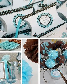 It's a boy! Dessert table for baby shower!