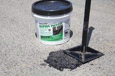 Latex·ite Super Patch® is a stone asphalt patch for driveways and pavements. It is recommended for POTHOLES, large cracks and joints. It can be used on both asphalt and concrete and is designed to be used year-round.  Super Patch®  (1 gal. & 3.5 gal.) contains asphalastic binders which give it maximum adhesion and longer life.    1 gallon & 3.5 gallons Black, stone aggregate formula. For pothholes, joints and large cracks. Contains asphalastic binders for maximum adhesion to sidewalls…