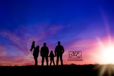 On location family silhouette photography session https://www.facebook.com/pages/Mandy-Lee-Photography/113937515377935