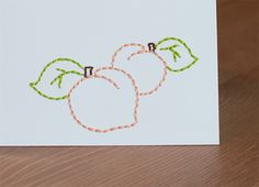 tutorial on how to make embroidered cards