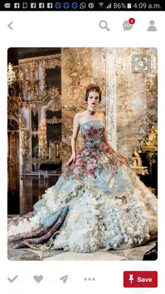 This would make an AWESOME and daring wedding gown! Beautiful Gowns, Beautiful Outfits, Fairytale Dress, Fairytale Fashion, Fantasy Dress, Dream Dress, The Dress, Plain Dress, Formal Dresses