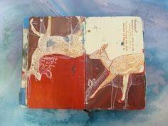 M.H. Dunaway's painted book with lyrics from Joanna Newsom