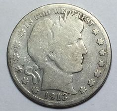 90% Silver 1913-S Barber Half Dollar. Take a LOOK!
