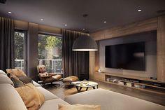 Idea soggiorno moderno minimal in colori naturali neutri - Appartamento moderno