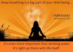 Abraham-Hicks, breathing