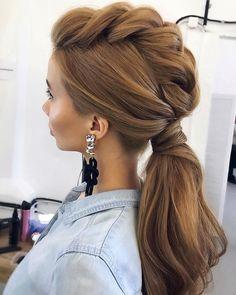 Gorgeous Ponytail Hairstyle Ideas ,ponytail hairstyles #weddinghair #ponytails #wedding #hairstyles #ponytail