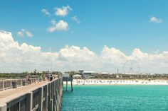 We love the Pier at Pier Park in Panama City Beach! Due South, Panama City Beach, Fishing Villages, White Sand Beach, Underwater, Dolores Park, World, Amazing, Travel