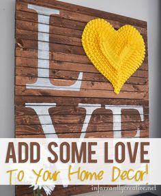LOVE Home Decor  #howdoesshe #v-daydecor #valentinescrafts #v-daydecorforhome #easyholidaydecor  howdoesshe.com