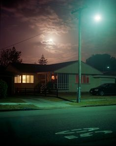 Australian Photographer's empty landscapes act as visual markers for memory and nostalgia. Shooting Pose, Todd Hido, Jm Barrie, American Gothic, Night Aesthetic, Night Photography, Photography Basics, Scenic Photography, Aerial Photography