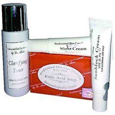 Facial Bleaching Whitening Set  Professional Skin Care Formula Clarifying Toner #ProfessionalSkinCareFormula