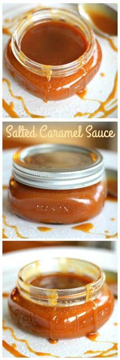 Best Home-made Salted Caramel Sauce via @https://www.pinterest.com/BaknChocolaTess/