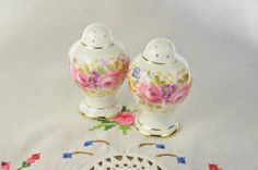 Serena Royal Albert salt and pepper shakers by VieuxCharmes on Etsy