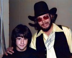 Hank Jr and Jeffrey Speegle (fan) in November 1976