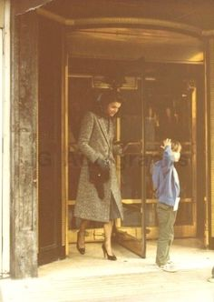 Jacqueline Onassis leaving the Ritz-Carlton.