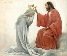 The crowning of the Blessed Virgin Mary as Queen of Heaven.
