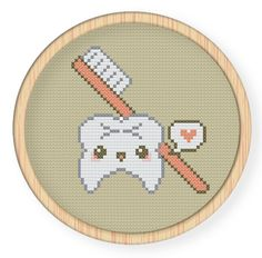 Cross stitch pattern, Crossstitch PDF,tooth and Counted Cross Stitch Patterns, Cross Stitch Designs, Embroidery Art, Cross Stitch Embroidery, Diy Bordados, Diy Broderie, Cross Stitching, Beading Patterns, Needlework