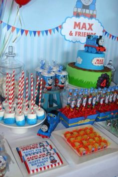 Thomas the Train Birthday Party Ideas | Photo 1 of 17