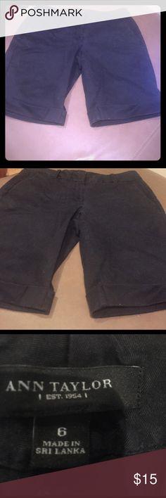 Ann Taylor black shorts Super hot and very slimming Ann Taylor Shorts