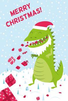 Christmas Card 20! Santa Godzilla | Godzilla and Jingle bells