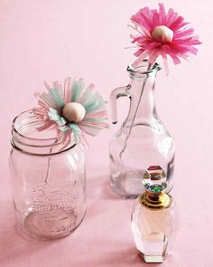 Scented Paper Flowers | Martha Stewart Living - Take a closer look (and sniff) at these blooming beauties -- they give off a rich floral scent, just like the real thing.