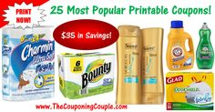 ***TOP 25 MOST POPULAR PRINTABLE COUPONS AS OF 4/22/17*** Check out this DETAILED LIST of the Hottest Printable Coupons available! These may not last long so PRINT Them while you can! Click the Picture below to get the Detailed List of MOBILE FRIENDLY DIRECT LINKS to all 25 coupons ►  http://www.thecouponingcouple.com/25-most-popular-printable-coupons/  Help us out and use the SHARE button below the Picture to SHARE this post with your Family and Friends!  #Coupons #C