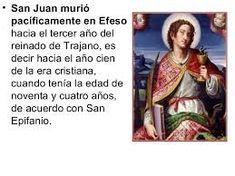Resultado de imagen para como murio el evangelista juan San Juan Evangelista, Baseball Cards, Reign Bash, Christians
