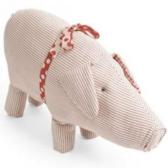 Maileg Stoffschwein rotgestreift / Fabric Pig red stripes €25  Visit & Like our Facebook page! https://www.facebook.com/pages/Rustic-Farmhouse-Decor/636679889706127