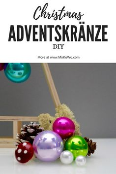 DIY Ideen für tolle und außergewöhnliche Adventskränze zum selbermachen   und basteln in der Vorweihnachtszeit und als tolle Weihnachtsdeko.  extraordinary Advent wreath DIY at our christmas blog MoKoWo