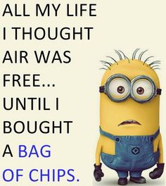 All my life I thought air was free... until I bought a bag of chips.