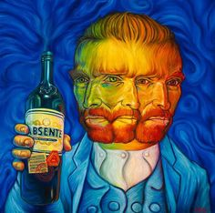 Van Gogh Absente Absinthe poster by Ron English