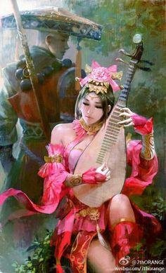 # Asian art and illustrations Asian fantasy art by Fantasy Art Women, 3d Fantasy, Beautiful Fantasy Art, Fantasy Girl, Character Inspiration, Character Art, Character Design, Art Magique, Geisha Art