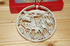 Gorham Silverplate Three 3 Kings Christmas Nativity Ornament, 3""