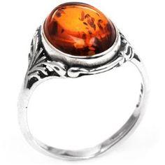 Amber ring.  Engagement ring