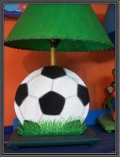 Soccer boll country madera painting