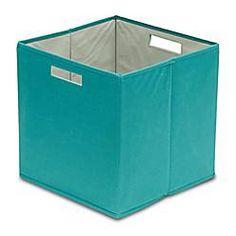 B+in® Fabric Storage Bin In Teal   Bed Bath U0026 Beyond