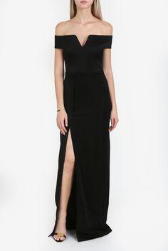 V-Front Off The Shoulder Dress By GALVAN @ http://www.boutique1.com/