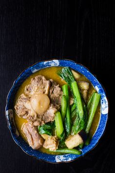 Kare Kare (Philippine Oxtail and Tripe Stew) | The Domestic Man